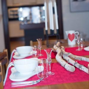 "On the tabletop: ""Ole"" porcelain designed by Ole Jensen, Royal Copenhagen (1997),  Arne Jacobsen flatware (1957), ""Kubus"" Candleholder designed by Mogens Lassen (1962) By Lassen, Copenhagen  ""Cylinda-line"" salad bowl by Arne Jacobsen (1972)"
