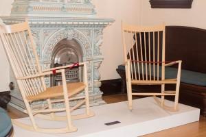 2 rocking chairs designed by Hans J. Wegner, 1944